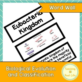 Biological Evolution and Classification