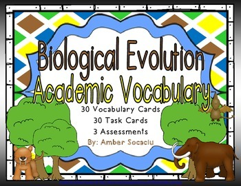 Biological Evolution and Heredity Academic Vocabulary Workbook and Assessments