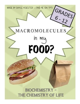 biological macromolecules activity macromolecules in my food. Black Bedroom Furniture Sets. Home Design Ideas