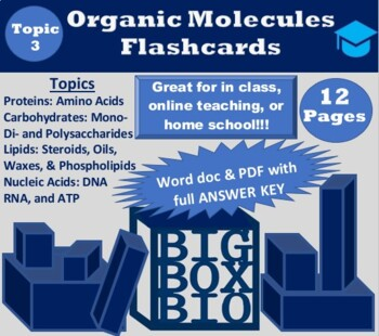 Biological Macromolecules Review Flashcards Activity