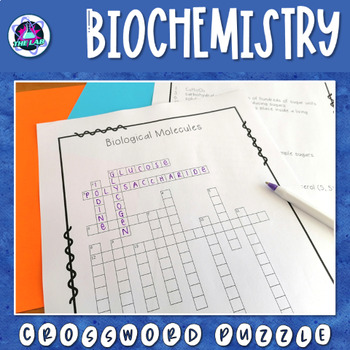 Biological Molecules Crossword Puzzle