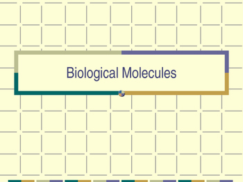 Biological Molecules Powerpoint and Note Chart