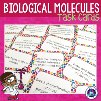 Biological Molecules Task Cards