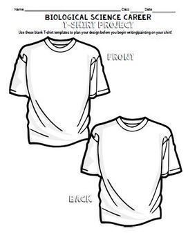 Biological Science Career Research and T Shirt Design Project