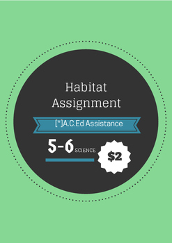 Biological Sciences: Habitat Assignment