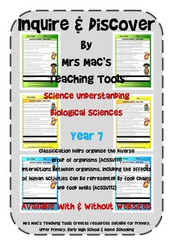 Biological Sciences - Year 7 With & Without Websites - Aus