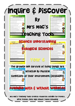 Biological Sciences - Year 6 With & Without Websites - Aus