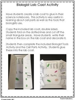 Biologist Lab Coat Activity
