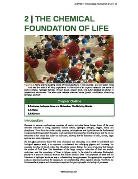 Biology - 2 - Chemical Foundation of Life
