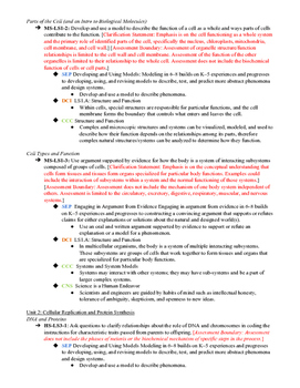 Biology 1 and Biology 2 Sequence with NGSS MS& HS Life Sciences Standards