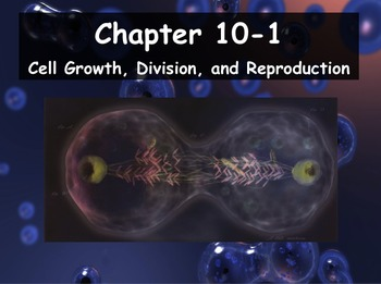 Biology - 10.1 Cell Growth, Division and Reproduction Powerpoint & Guided Notes
