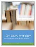 Biology! 100+ Essay Prompts