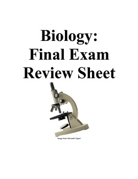 Biology 2nd Semester Review Packet