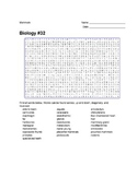 Biology #32 - Mammals - Wordsearch Puzzle