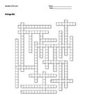 Biology #33 - Behavior of Animals - Crossword Puzzle