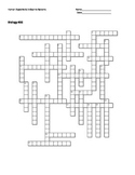 Biology #35 - Human Digestive and Endocrine Systems - Crossword Puzzle