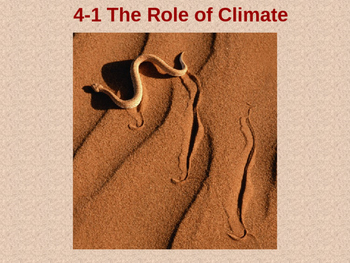 Biology 4.1 The Role Of Climate Fill-In-The-Blank Notes