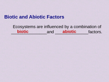 Biology 4.2 What Shapes an Ecosystem Fill-In-The-Blank Notes with Handouts