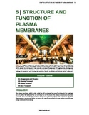Biology - 5 - Structure and Function of Plasma Membranes