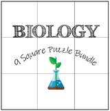 Biology: 9 Square Puzzle Card Sort Bundle