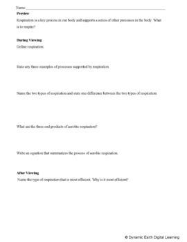 Biology- AEROBIC RESPIRATION : FuseSchool Video Guide