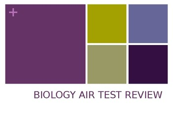 Biology AIR Test Prep Review Game - Editable