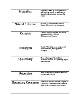 Biology Alphabet Review