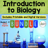 Introduction to Biology Bundle   Printable and Digital Distance Learning