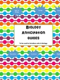 Biology Anticipation Worksheets