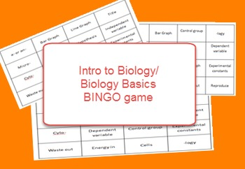 Biology Basics Review Bingo