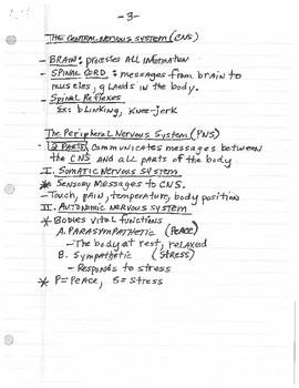Biology & Behavior Lecture Notes