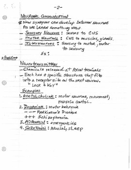 Biology & Behavior Lecture Notes