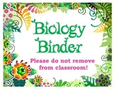 Biology Binder Cover Pages