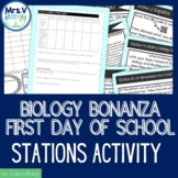 Biology Bonanza-First Week of School Station Activity