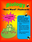 Biology Buzz Word Flashcards