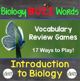 Biology Buzz Words:  Introduction to Biology Vocabulary Games