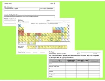 Biology CHNOPS Trace Elements