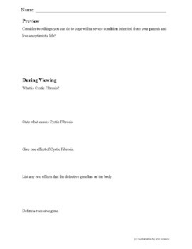 Biology-CYSTIC FIBROSIS: FuseSchool Biology Video Guide