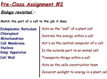 Chemical Basis of Life - Carbon, Water and Enzymes with worksheet
