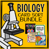 Biology Card Sort Bundle - Cells, Organ Systems, Mitosis,