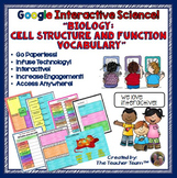 Biology Cell Structure and Function Vocabulary Google Drive Activities