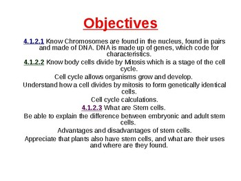 Biology - Cell division