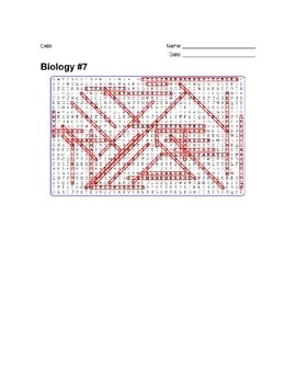 Biology #07 - Cells - Wordsearch Puzzle