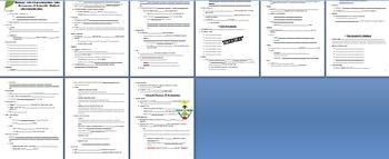 Biology: Ch 1 Cloze Notes: Life Characteristics/Processes, Scientific Method