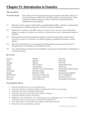 Biology - Chapter 11: Introduction to Genetics Study Guide (with QR Codes)
