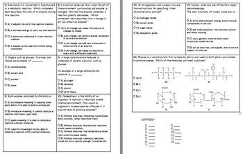 Chemical Basis of Life Assessment (Quiz)