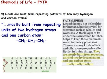 Chemical Basis of Life - Macromolecules Reading Assignment