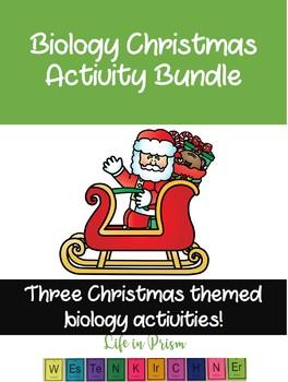 Biology Christmas Activities Bundle