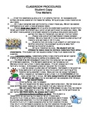 Biology Class Procedures Student Contract