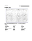 Biology #17 - Classification - Wordsearch Puzzle